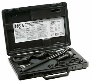 Knockout Punch Set With Ratcheting Wrench Klein Tools 53732sen
