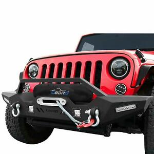 Oedro Front Bumper Compatible For 2007 2018 Jeep Wrangler Jk Unlimited Rock