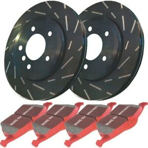 S4kr1071 Ebc 2 Wheel Set Brake Disc And Pad Kits Rear New For Chevy Camaro 98 02