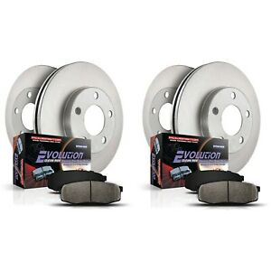 Koe4337 Powerstop Brake Disc And Pad Kits 4 wheel Set Front Rear New For Ls400