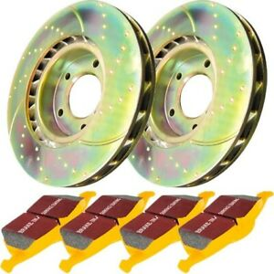 S5kr1049 Ebc Brake Disc And Pad Kits 2 Wheel Set Rear New For Ford Mustang 87 93