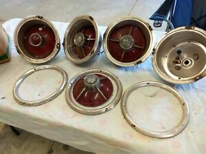 1963 Ford Galaxie 500xl Tail Light Housings Lens Moldings Lot