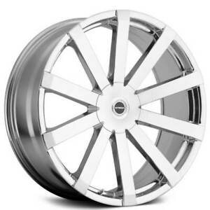 4 20 Strada Wheels Gabbia Chrome Rims b3