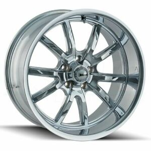 20x8 5 Chrome Wheels Ridler 650 5x120 30 set Of 4