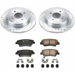 K6507 Powerstop Brake Disc And Pad Kits 2 wheel Set Rear New For Hyundai Accent