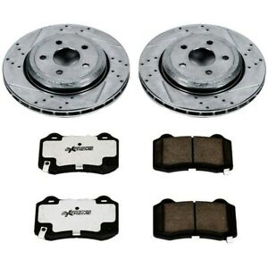 K849 26 Powerstop Brake Disc And Pad Kits 2 wheel Set Rear New For A6 Quattro