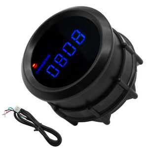 High Quality 2 52mm Blue Digital Led Tachometer Rpm Car Gauge Kit 9 999k
