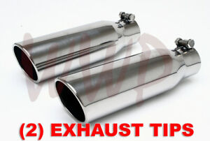 2 Polished Stainless Bolt On Angle Roll Exhaust Tip 2 25 Inlet 3 5 Outlet 12 Lng