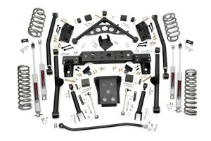 Rough Country 90820 4 0 Long Arm Lift Kit For 1999 2004 Jeep Grand Cherokee Wj