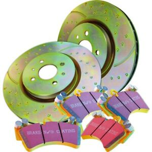 S5kf1128 Ebc Brake Disc And Pad Kits 2 wheel Set Front New For Ford Mustang