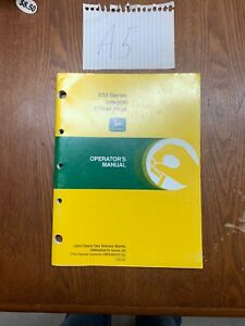 John Deere 610 Series Integral Chisel Plow Owner s Operator s Manual Nos