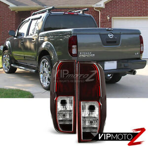 Fits 2005 2014 Nissan Frontier Sc Red Smoke Rear Brake Tail Lights Left Right