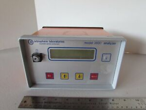 Orbisphere Labratories 3600 120 e Swiss O2 Analyzer Ozone Hydrogen 3600 Parts