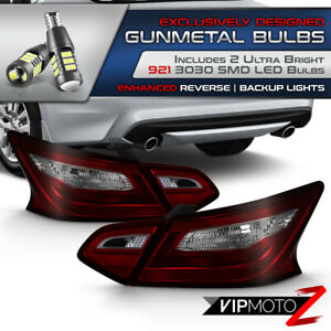 Red Smoked Tail Light ultra Bright Led Bulb Reverse For 16 18 Nissan Altima