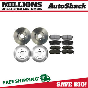 Front And Rear Rotors And Ceramic Pads For 2001 Infiniti I30 Nissan Maxima