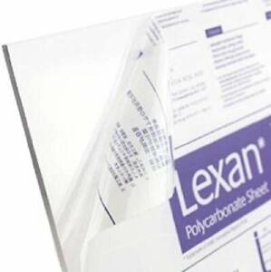 Clear Polycarbonate 9604 Lexan Sheet 040 X 12 X 16 Package Of 10 Sheets