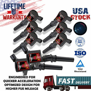 8pcs Dg508 Ignition Coil For Ford Expedition 4 6l 5 4l V8 2000 2001 2002 2003 04
