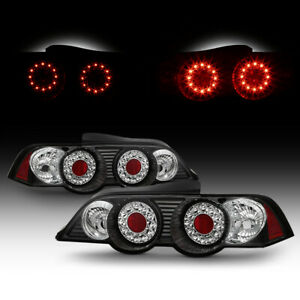 For Acura 02 04 Rsx Dc5 Led Hatch Black Pair Lh Rh Tail Lights Lamps Rear Brake