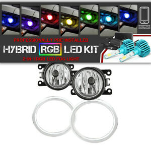 Built In Rainbow Led For 12 15 Honda Pilot Fog Light Kit Lamps Bezel Harness