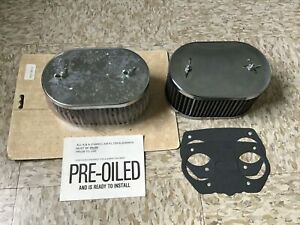 Pair Of K n Air Filters For 44 Idf Webers Rare 2 bolt Covers Vintage New