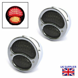 Led Stop Tail Lights Indicators For Custom Hot Rod Chrome Vintage Style