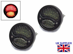 Led Stop Tail Lights Indicators For Classic Retro Pick Up Black Vintage Look