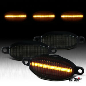 Fit Ford 2010 2014 F150 Raptor Smoke Tinted Led Front Grille Running Lights 3pc