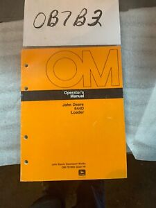 John Deere Model 644d Wheel Ldr Owner Operator Maintenance Manual Omt81869 Nos
