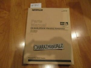 Caterpillar Cs 563d Cp 563d Vibratory Compactors Parts Manual