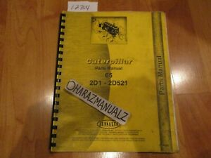 Caterpillar 65 Tractor 2d1 2d521 Service Manual