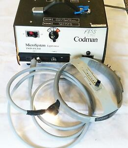 Codman Surgical Microsystem Twin Beam Lightsource W Helmet Fiber Optic Cable