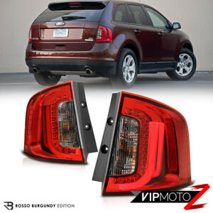 2011 2014 Ford Edge Se Sport rosso Red Smoke Led Tail Lights Replacement Lamps