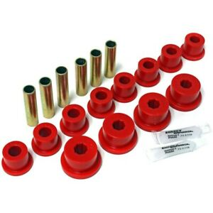 1 2102r Energy Susp Leaf Spring Bushings 2 spring and shackle Set Rear New