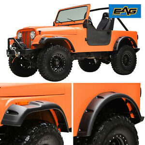 Eag Fits 59 86 Jeep Wrangler Cj5 6 7 Pocket Rivet Abs Wide Body Fender Flares