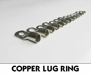 Heavy Duty Battery Copper Cable Ends Lug Wire Crimp Connector Terminal Truck Lot