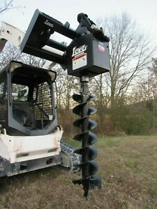Lowe 1650 Hex Auger Drive Attachment With 4 Wide Bit Fits Skid Steer Loader