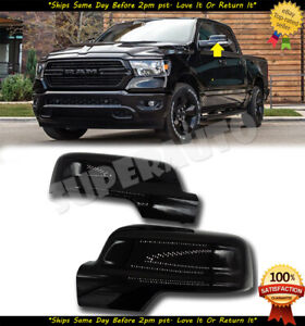 For 2019 2020 Dodge Ram 1500 Replacement Glossy Black Mirror Covers Caps W Clip