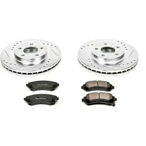 K5234 Powerstop Brake Disc And Pad Kits 2 wheel Set Front New For Chevy Olds