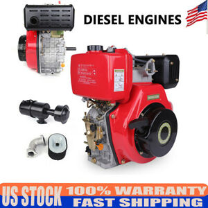 Single Cylinder Air Cooled Recoil Diesel Engine 406cc 9hp 72 2mm Shaft Length