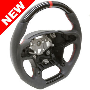 Handkraftd 15 19 Chevrolet Suv Truck Steering Wheel Gloss Black W Leather Fbsw