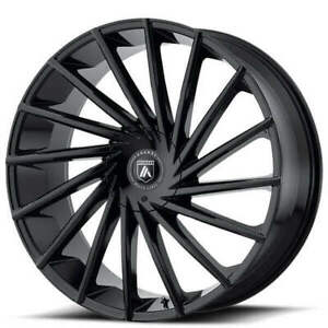 4 22 Asanti Wheels Abl 18 Matar Gloss Black Rims b9