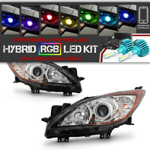rainbow Led Low Beam 2010 2013 Mazda 3 factory Style Headlights Replacement