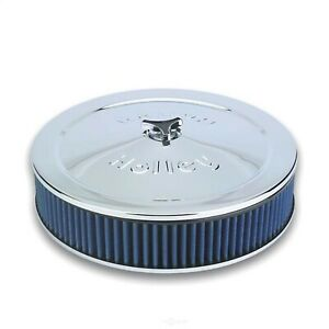 Holley 120 146 Power Shot Chrome Air Cleaner 14 X 3 Dropped Base