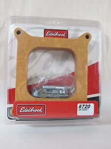 Edelbrock 8720 Carb Spacer Wood Square bore 1 Thick Open