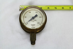 Crosby 0 250 Psi Test Pressure Gage Gauge 2 Lb Subdivision Steampunk Vintage
