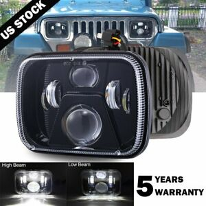 New 5x7 7x6 Led Headlight For 1986 1995 Jeep Wrangler Yj 1984 2001 Cherokee Xj