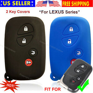 2pcs Silicone Smart Case Protector Fob Holder Remote Control Cover For Lexus Key