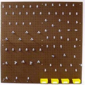 Pegboard Set Wall Organizer Kit 83 Pc Locking Hooks Storage Heavy Duty 48 Inch