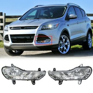 For Ford Escape 2013 16 Pair Lh Rh Clear Lens Bumper Fog Light Lamp Replacement