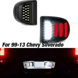 1999 2013 Chevy Silverado Smd Led Red Sequence Light Tube License Plate Lights